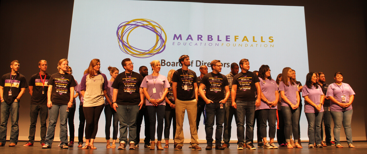 Founding Donors Marble Falls Education Foundation